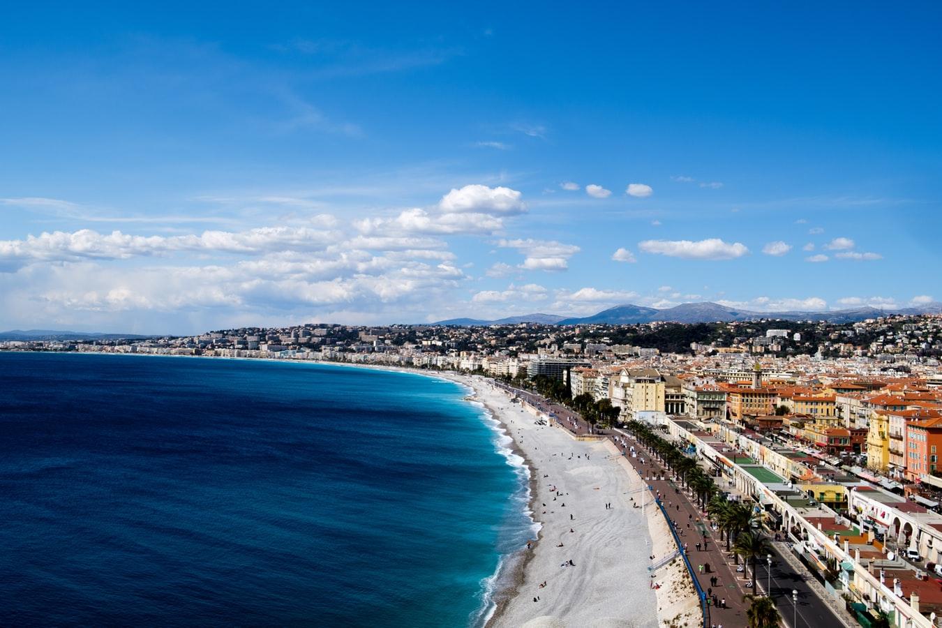 Panorama de Nice sur la Côte d'Azur
